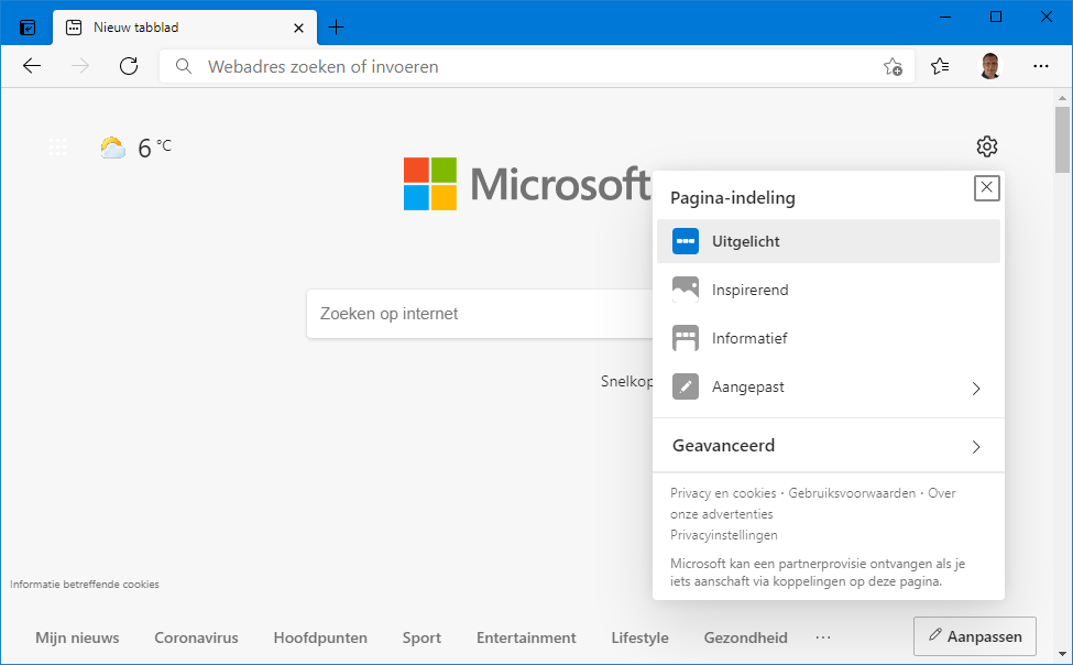 Microsoft Edge (Chromium), de standaard browser van Windows 10
