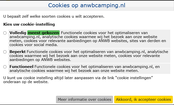 Functionele cookies