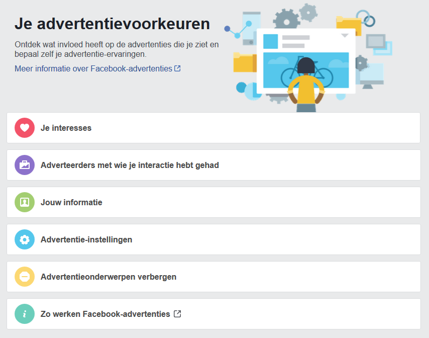 Facebook: Je advertentievoorkeuren