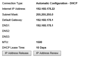 Linksys-router: status IP-adres