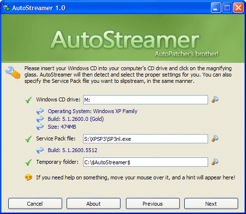 Windows XP CD slipstreamen met AutoStreamer