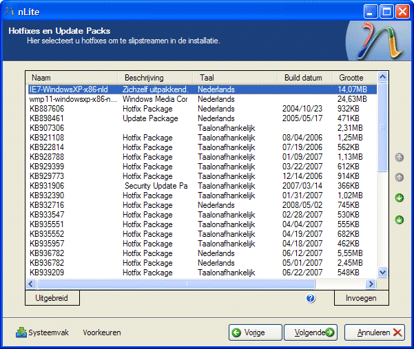 Updates en hotfixes slipstreamen in de Windows XP installatie CD.