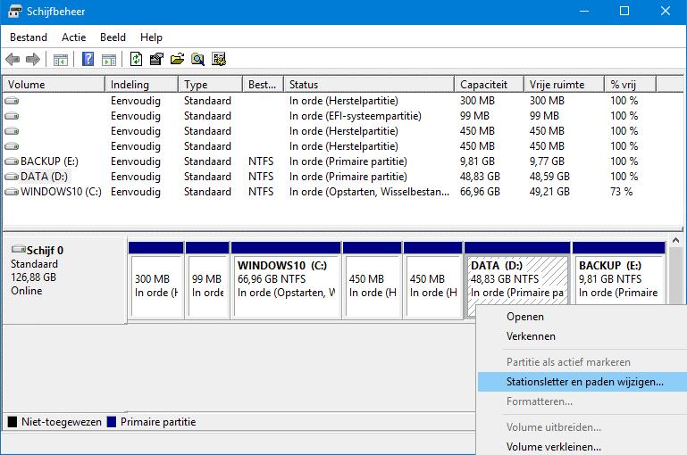 Harde schijf partitioneren meer dan 1 partitie maken - Een verwijderbare partitie maken ...