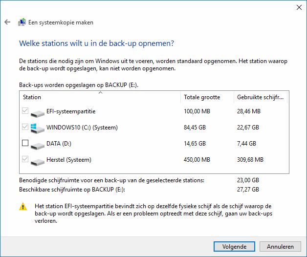 Image back up van windows systeem maken de beste beveiliging tegen computerproblemen - Een verwijderbare partitie maken ...