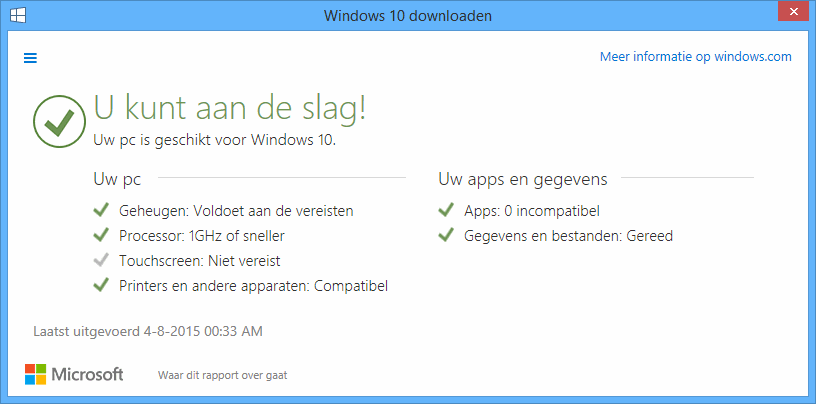 Is mijn computer compatible met Windows 10? Of werkt Windows 10 niet op mijn PC?