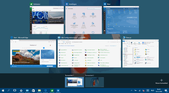 Taakweergave (Windows 10)