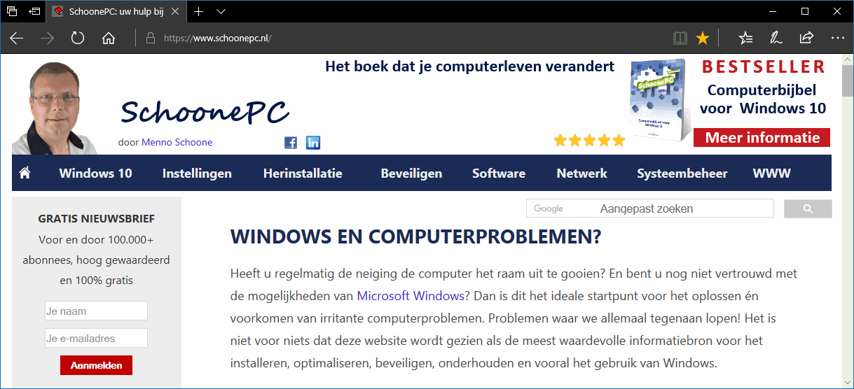 Microsoft Edge, de standaard browser van Windows 10