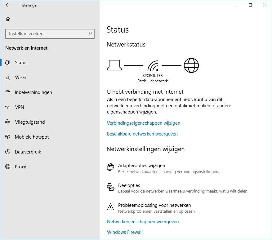 Windows 10 Instellingen Onderdeel Netwerk En Internet