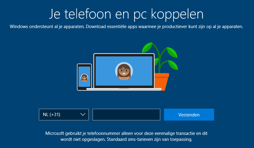 Windows 10: telefoon en pc koppelen (via de Microsoft app)