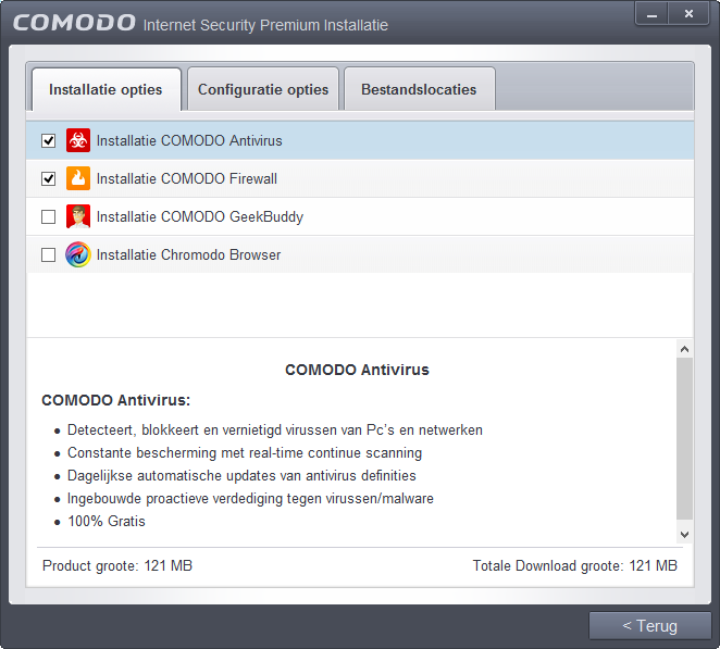 Comodo firewall en/of virusscanner activeren