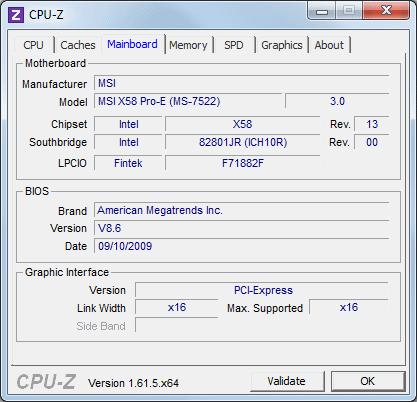 CPU-Z voor het achterhalen van merk en  type moederbord