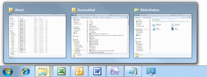 Menu start taakbalk en bureaublad in windows 7 for Windows 8 bureaublad