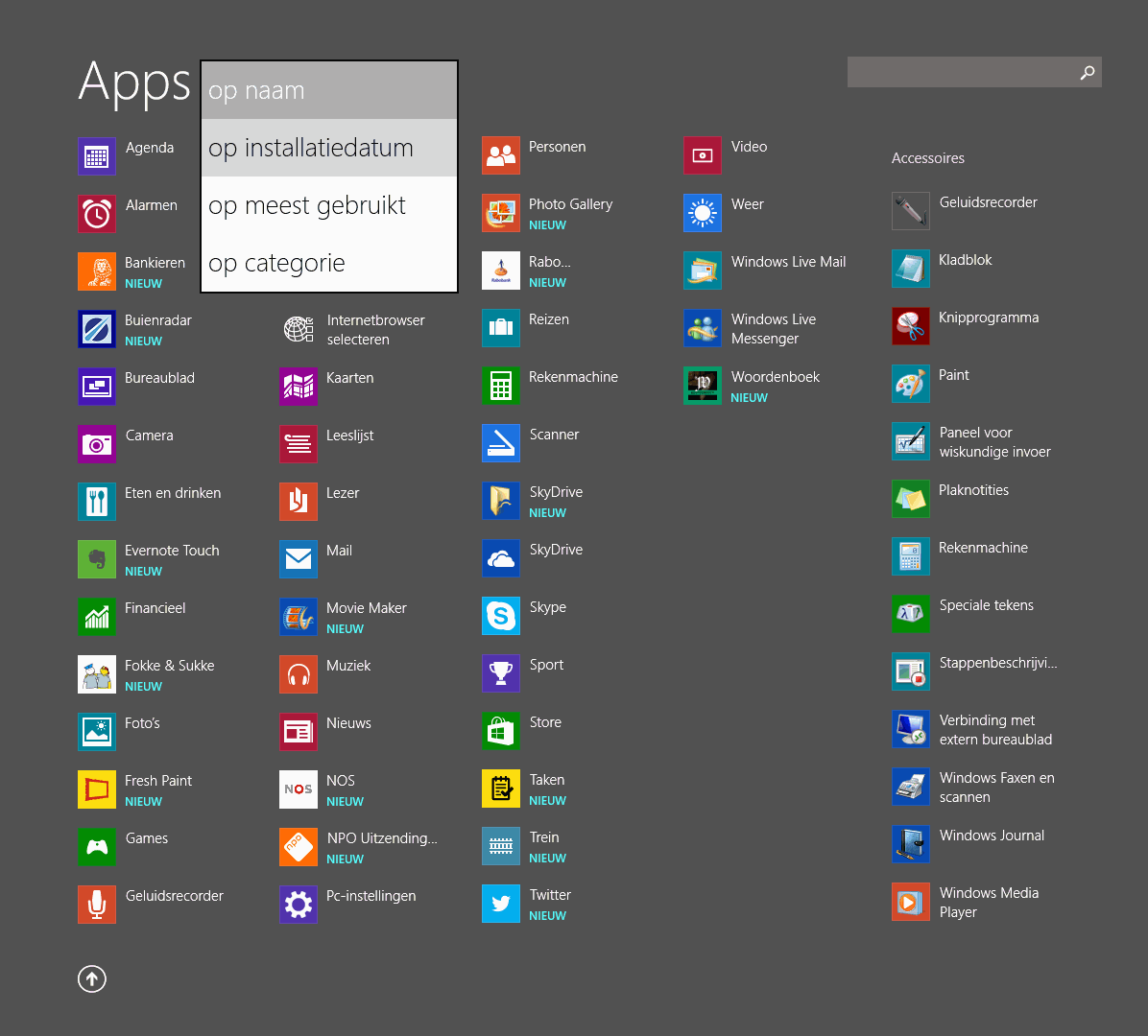 Windows 8 1 de gebruikersinterface modern ui for Windows 8 bureaublad
