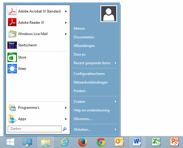 Win 7 apps search results dunia photo for Windows 8 bureaublad